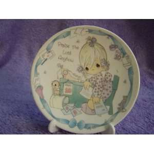 Precious Moments Praise the Lord Anyhow Collectible Mini Plate