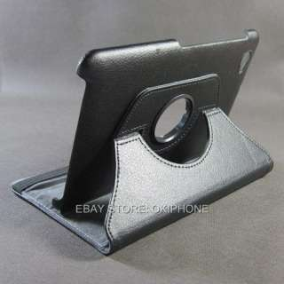 NEW Samsung P6800 Galaxy Tab 7.7Black 360° Degree Rotatable Leather