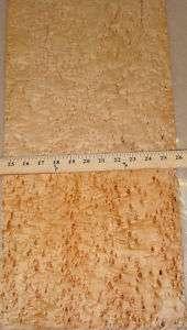 Birdseye Maple wood veneer 11 x 27 (no backing)