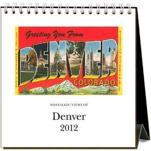 Nostalgic Views of Denver 2012 Easel Desk Calendar: Office