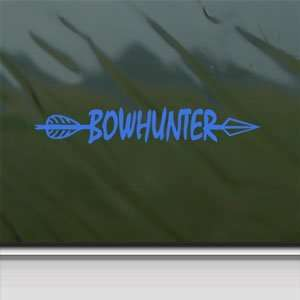 BowHunter Blue Decal Bow Deer Hunter Hunting Car Blue