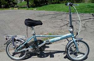 VINTAGE folding DAHON 4130 BIKE piccolo 3 speed SUPER light weight