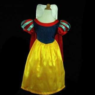 6188USA9 Witches Snow White Princess Girls Dress Sz 6 7