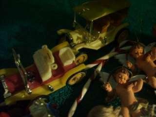 LOT of Plastic Christmas Ornaments Wisemen Angels Cars