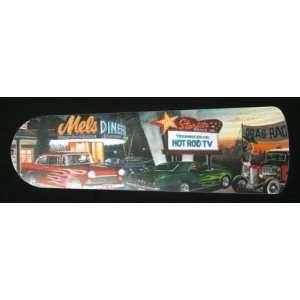 MELS DINER HOT ROD CARS 42 CEILING FAN W/LIGHT Home