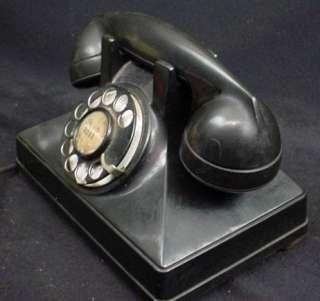 Lovely Art Deco Black Bakelite Northern Electric Telephone Desk Phone