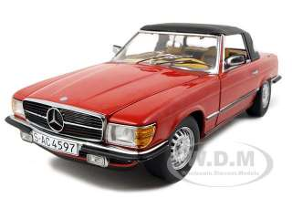 1977 MERCEDES 350 SL CLOSED CONVERTIBLE 1/18 RED