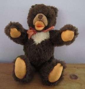 Vintage Steiff Cosy Teddy Bear Dark Brown 4763/30 11 30 Cm