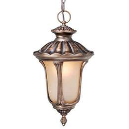 Windsor Outdoor Lighting Parisian Bronze Pendant Light with Amber