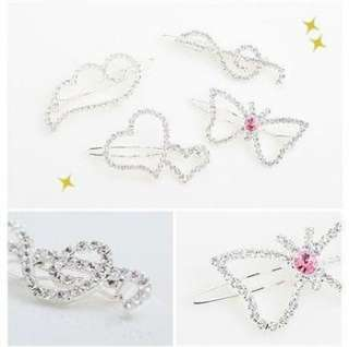 Full Crystal Angel wings Style Hair Barrette Clip Hairpin ts29
