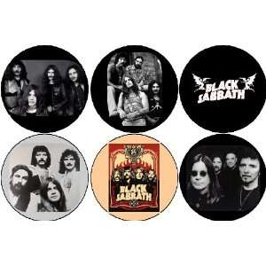 Set of 6 BLACK SABBATH Pinback Buttons 1.25 Pins Heavy Metal / Ozzy
