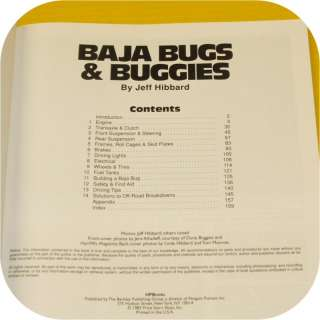 VW Baja Bugs & Buggies Book Sand Rail Dune Buggy