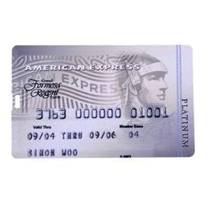 4GB American Express Platinum Double Sided Pattern Credit Card