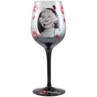 Jewels and Kisses Marilyn Monroe 15oz Wine Glass by Westland