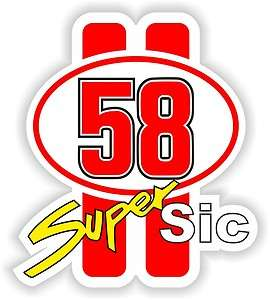 MARCO SIMONCELLI 58 SUPER SIC Autocollant Vinyl Sticker decal