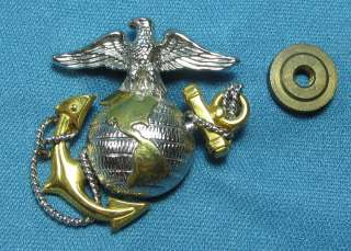 US Marine Corps EGA Small Size Gold on Sterling Silver Pin 594