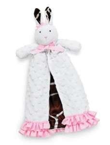 NWT Mud Pie Wild Child Minky Bunny Security Blanket Soft and Cuddly