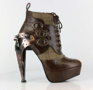 boot with buckles on the side brown or black accent fabric on the side