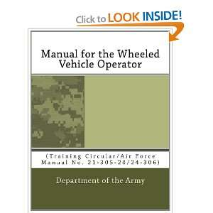Manual for the Wheeled Vehicle Operator: (Training Circular/Air Force