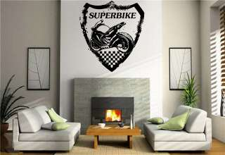 Wall Mural Vinyl Decal Stickers Sport Emblem superbike racing S7295