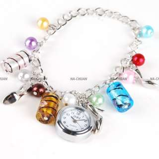 BRACELET BANGLE DANGLE GIRL LADY PENDANT WATCH GIFT NEW