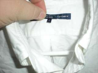 Polo Ralph Lauren Sport Dress Shirt White Button Up Long Sleeve 10