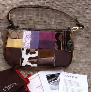 HANDBAG BAG PURSE TOTE AUTHENTIC # 7071 NEW BROWN PINK WHITE #22
