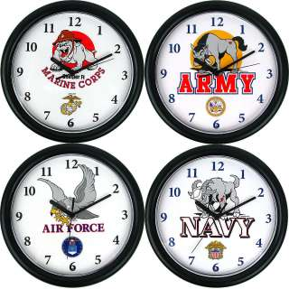 Choice of Military Clocks   Army Navy Air Force Marines 844296056743