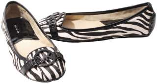 Michael Kors Black/White Zebra Print Fulton Moc NEW Womens Shoes size