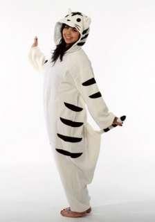 New White Tiger Kigurumi   Japanese Sazac Cosplay Costume Pajamas