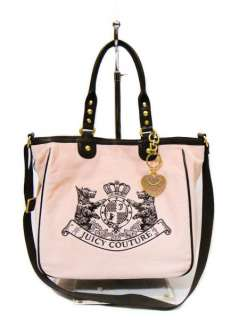 JUICY COUTURE PINK Scottie Crest Tote Bag & Wallet