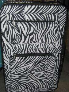 Black and White Zebra print 3 piece Luggage Set