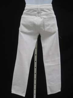 RAVEN DENIM White Denim Straightleg Jeans Pants Sz 25