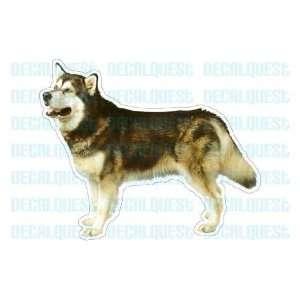 ALASKAN MALAMUTE  Dog Decal   sticker dogs car got window decals