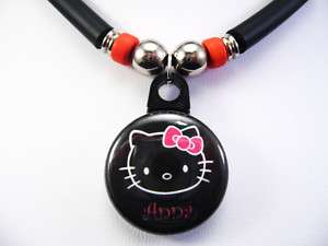 Black Hello Kitty Necklace Personalized With Your Name