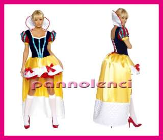 Costume abito lungo BIANCANEVE Deluxe carnevale DL 015