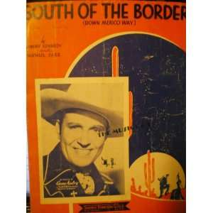 SOUTH OF THE BORDER (DOWN MEXICO WAY) (ARRANGEMENT WITH