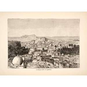 1893 Wood Engraving (Photoxylograph) Laghwat Algeria Atlas Mountains