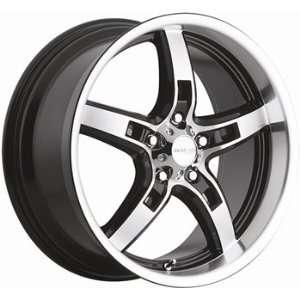 Menzari Diablo 19x8.5 Machined Black Wheel / Rim 5x112 with a 35mm