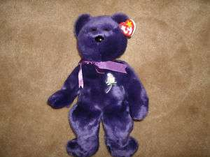TY BEANIE BUDDY 1998 PRINCESS DIANA BEAR