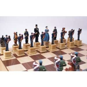 Civil War Chess Set with Storage: Toys & Games