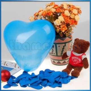 100 Heart Shaped Balloon Wedding Party Favors Decor 12