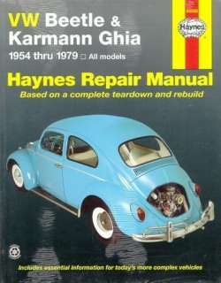 Haynes VW Beetle & Karmann Ghia 1954 79 Shop Manual
