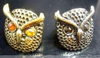 Wholesale 36Pcs Mixed Owl Crystal Rhinestone Vogue Ring