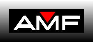 AMF 9 Wide Logo Bumper Sticker Decal