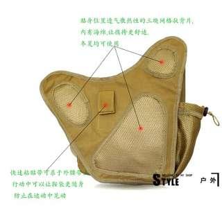 Tactical Utility Shoulder Backpack Bag Pouch Ver 2 Black And Tan