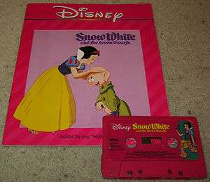 Walt Disney SNOW WHITE AND THE SEVEN DWARFS Book on Tape READ ALONG