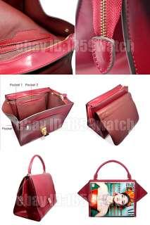 High quality leather mixed colors Bat handbag womans tote shoulder bag