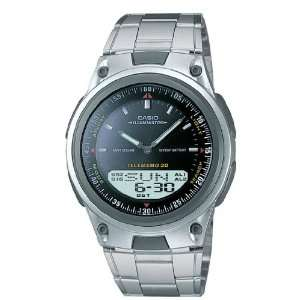 New Casio Ana Digi Dual Time Data Bank Watch with World Time, Alarm