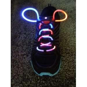 Rainbow multi color Led fashion Flashing Shoelaces